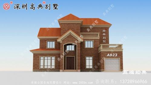实力颜值双在线的二层别墅,建在农村一