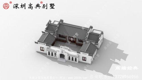 大庭院设计的四合院完成承接了中国传统