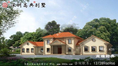 农村别墅建造屋顶庭园 ,享受室外风景