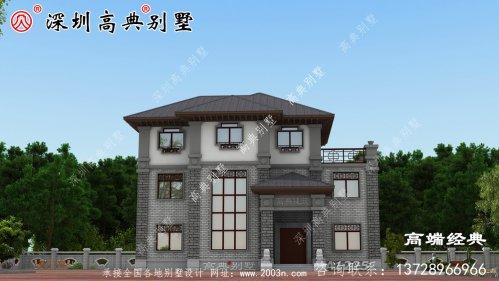 乡村三层大气别墅图片,建这样的房子,